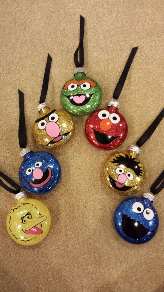 Sesame Street Character Christmas Ornaments. by AmysDesigns2 - Sesame Street Character Christmas Ornaments. By AmysDesigns2
