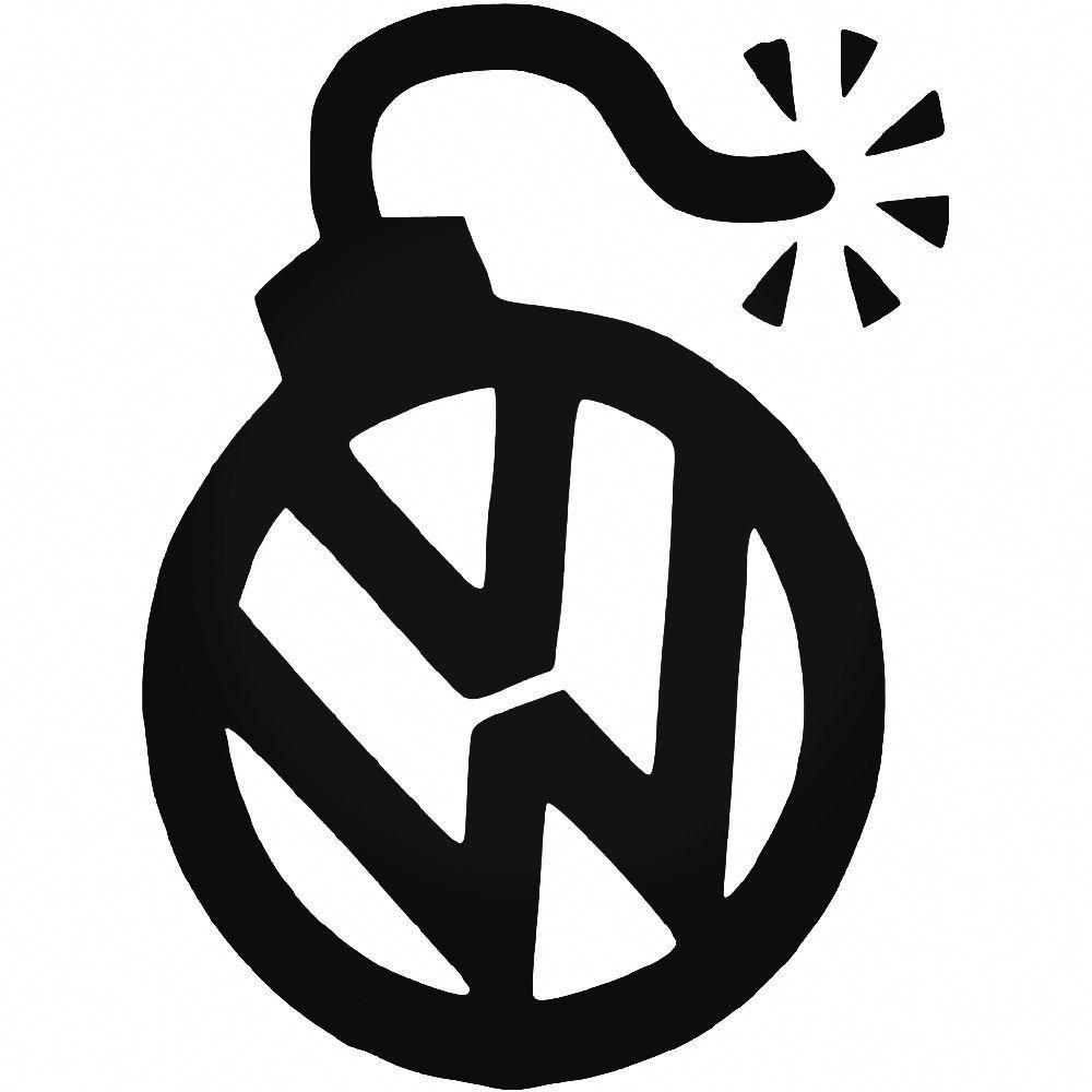 Vw Bomb Vinyl Decal Sticker Ballzbeatz Com Volkswageneosaccessories Vinyl Decals Print Decals Decals Stickers [ 1000 x 1000 Pixel ]