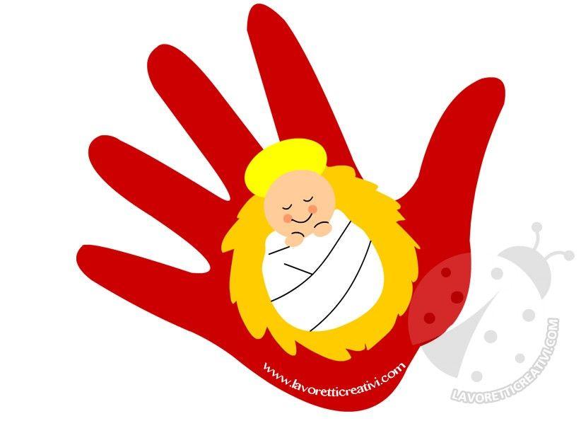 Lavoretti Di Natale Gesu Bambino.Mano Bambinello Biglietto Betlehemi Tortenet Natale Bambini Di