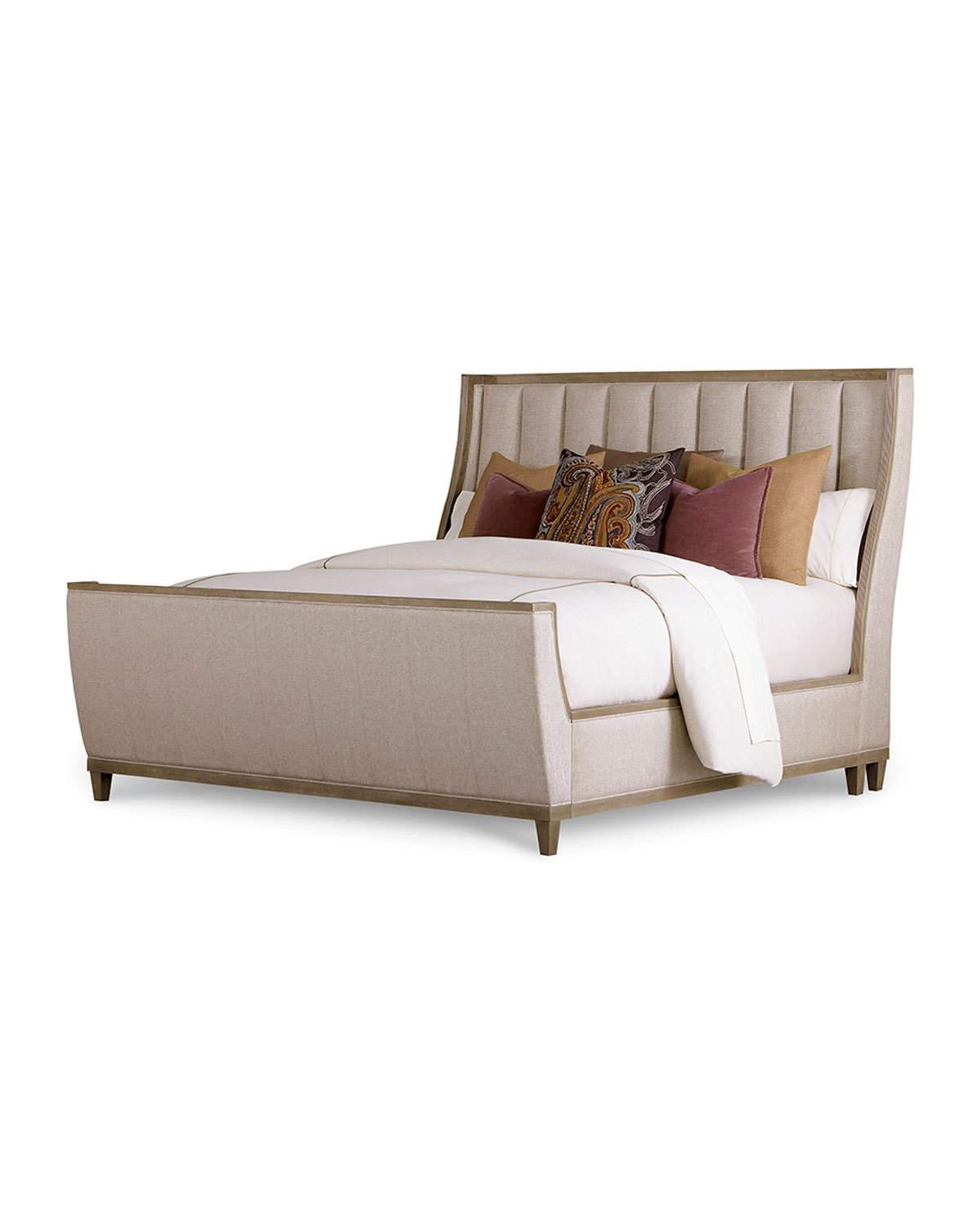 Best East Abbott Channel Tufted Queen Bed In 2020 Sleigh Beds 400 x 300