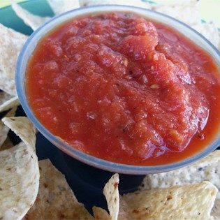 "Roasted Tomato Salsa I I ""This recipe is very easy and flavorful. My favorite suggestion has been to add 2-3 tsp of Liquid Smoke."""