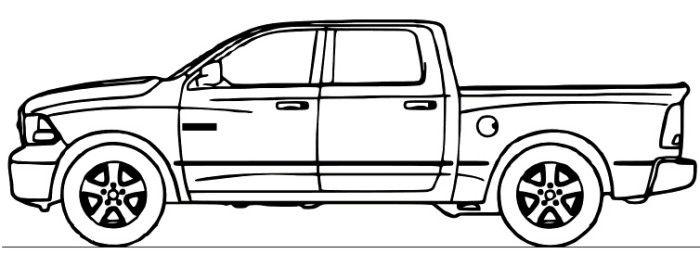 Dodge Ram Truck Coloring Page Com Imagens Coisas De Carro