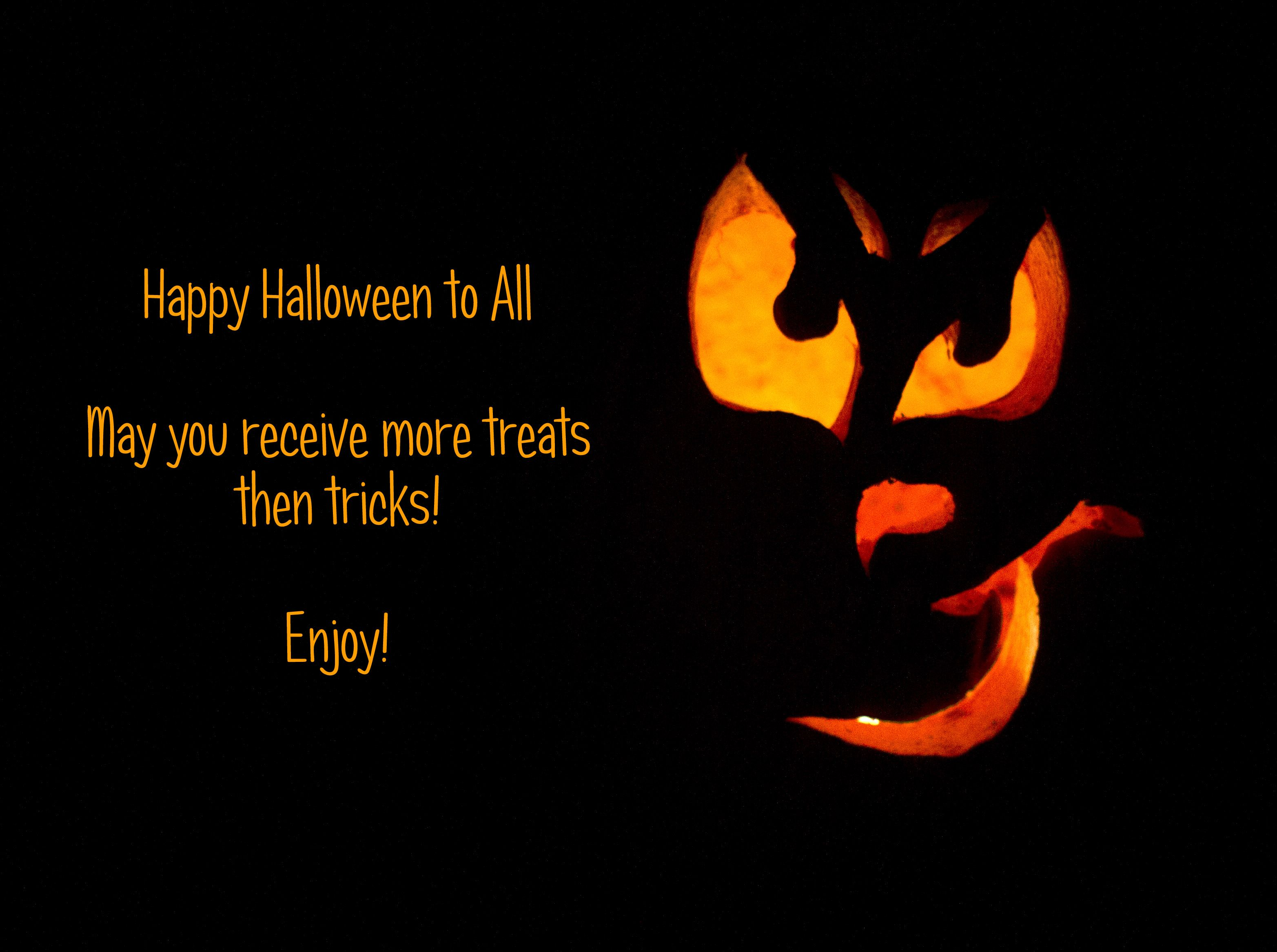 Tricks and Treats True quotes, Treats, Happy halloween