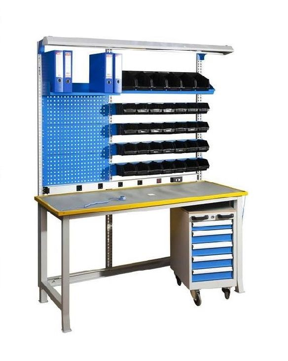 Esd Workbench With Esd Worktop Complete Mobile Drawer