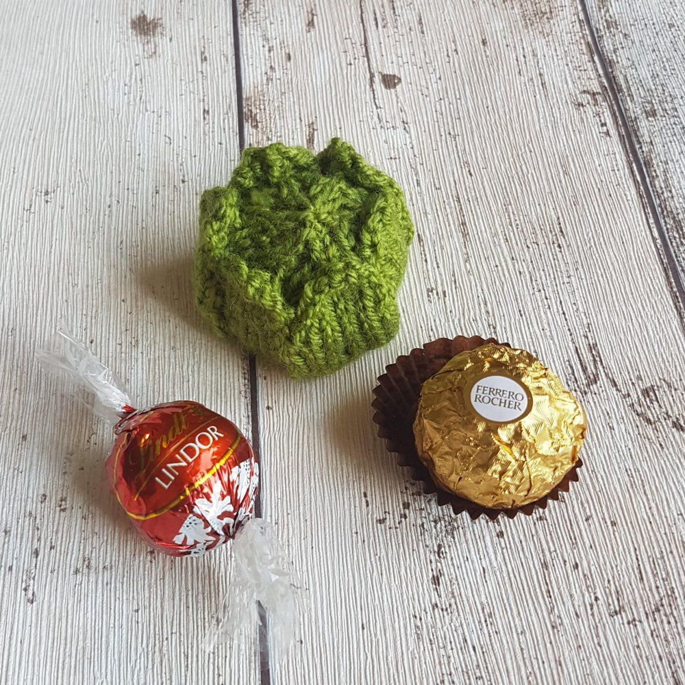 Christmas Brussels Sprout Ferrero Rocher Cover Knitting pattern by Lilac Sprig Designs ...