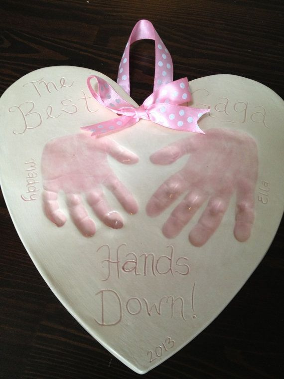 Perfect Gift For Mom Part - 46: Best Mom Hands Down Keepsake - Baby Handprint Gift A Perfect Gift For Mom  On Mothers