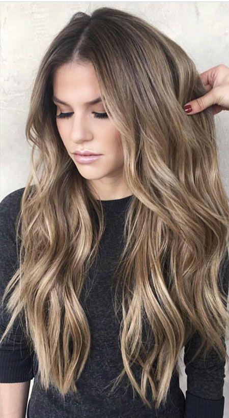 25 dunkelblonde lange Frisuren