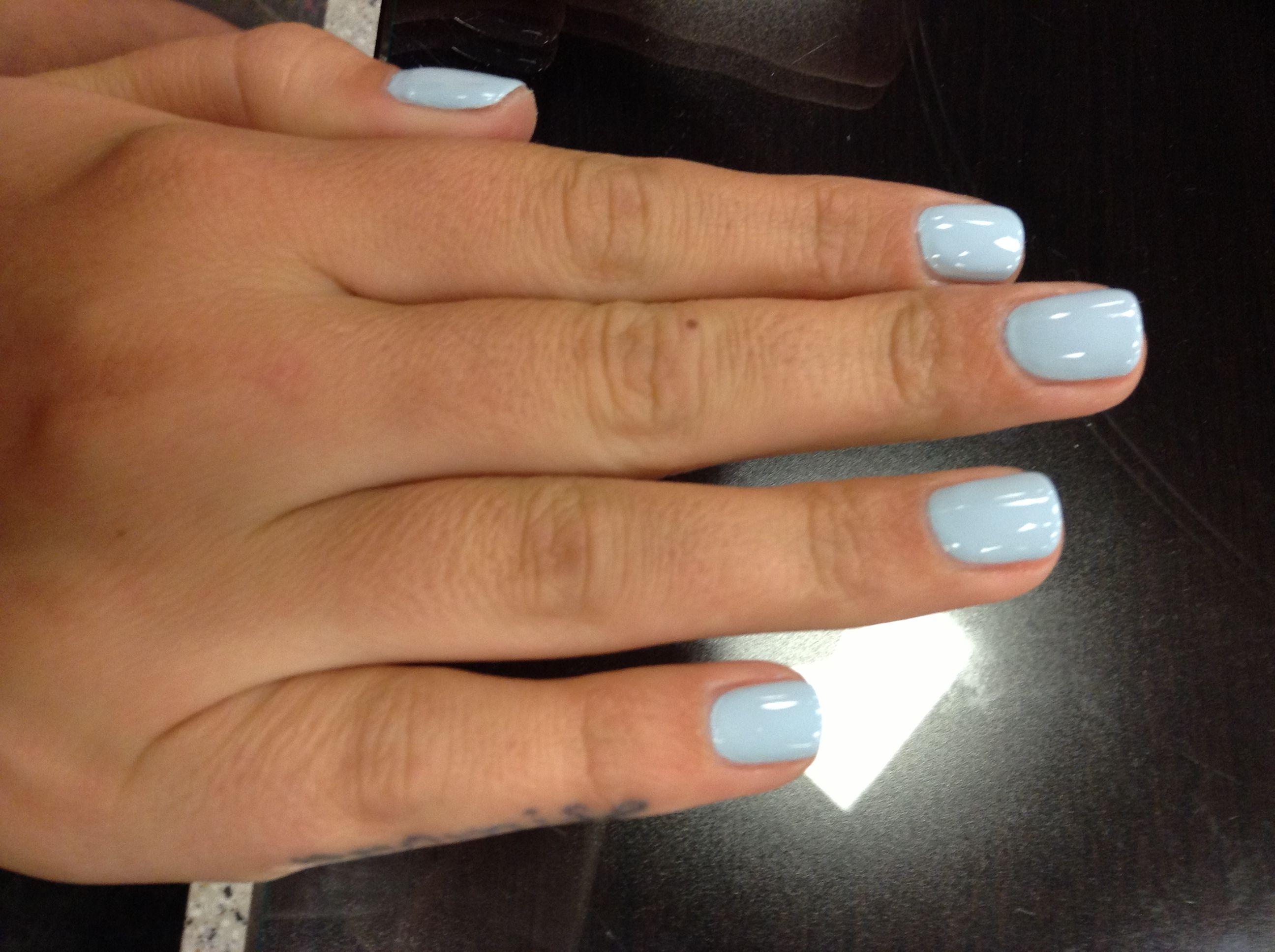 Light Blue Light Blue Nails Blue Shellac Nails Blue Gel Nails