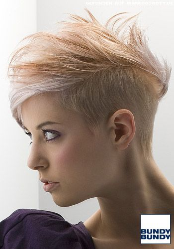 Blond Gesträhnter Short Cut Mit Leichtem Undercut Zukünftige