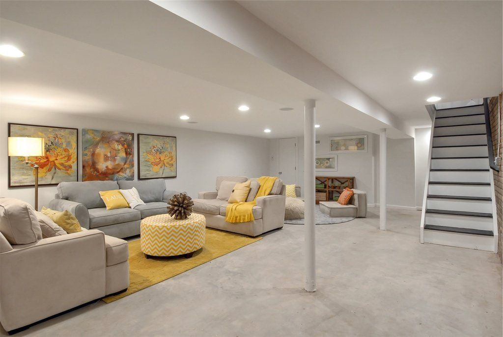 Use Concrete To Introduce Style And Warmth Into Your Interior Design Basement Design Modern Basement Basement Flooring Options