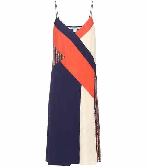 Frederica patchwork silk dress   Diane von Furstenberg