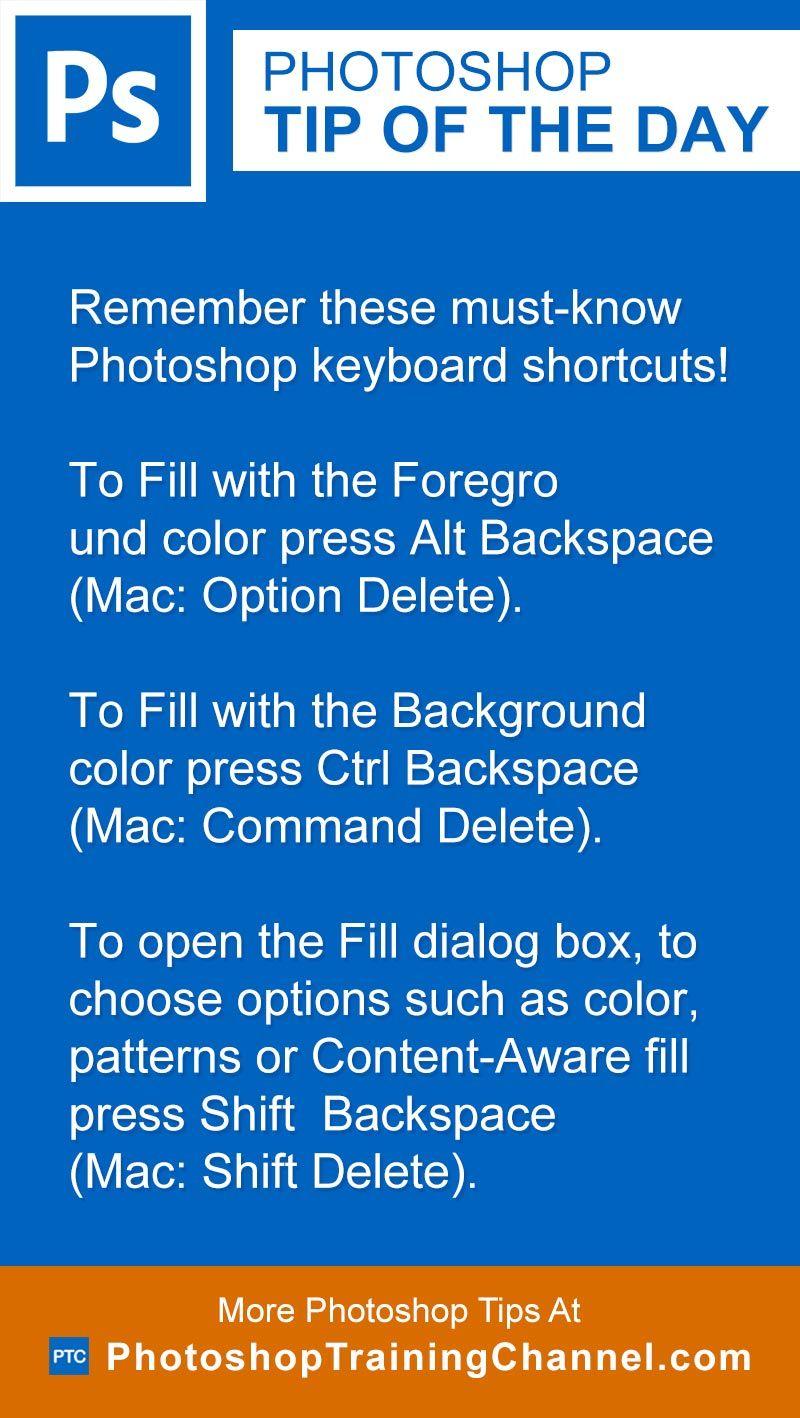 MustKnow Fill Keyboard Shortcuts
