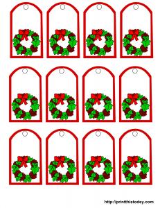 graphic regarding Printable Mistletoe called Totally free printable mistletoe Xmas reward tags Xmas