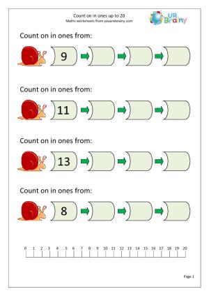 Number Line Worksheets » Number Line Worksheets To 20 - Free ...