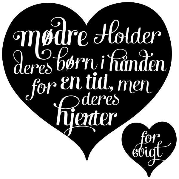 søde citater om mødre Wallsticker   Mødre holder deres børn i hånden   life,qoutes  søde citater om mødre