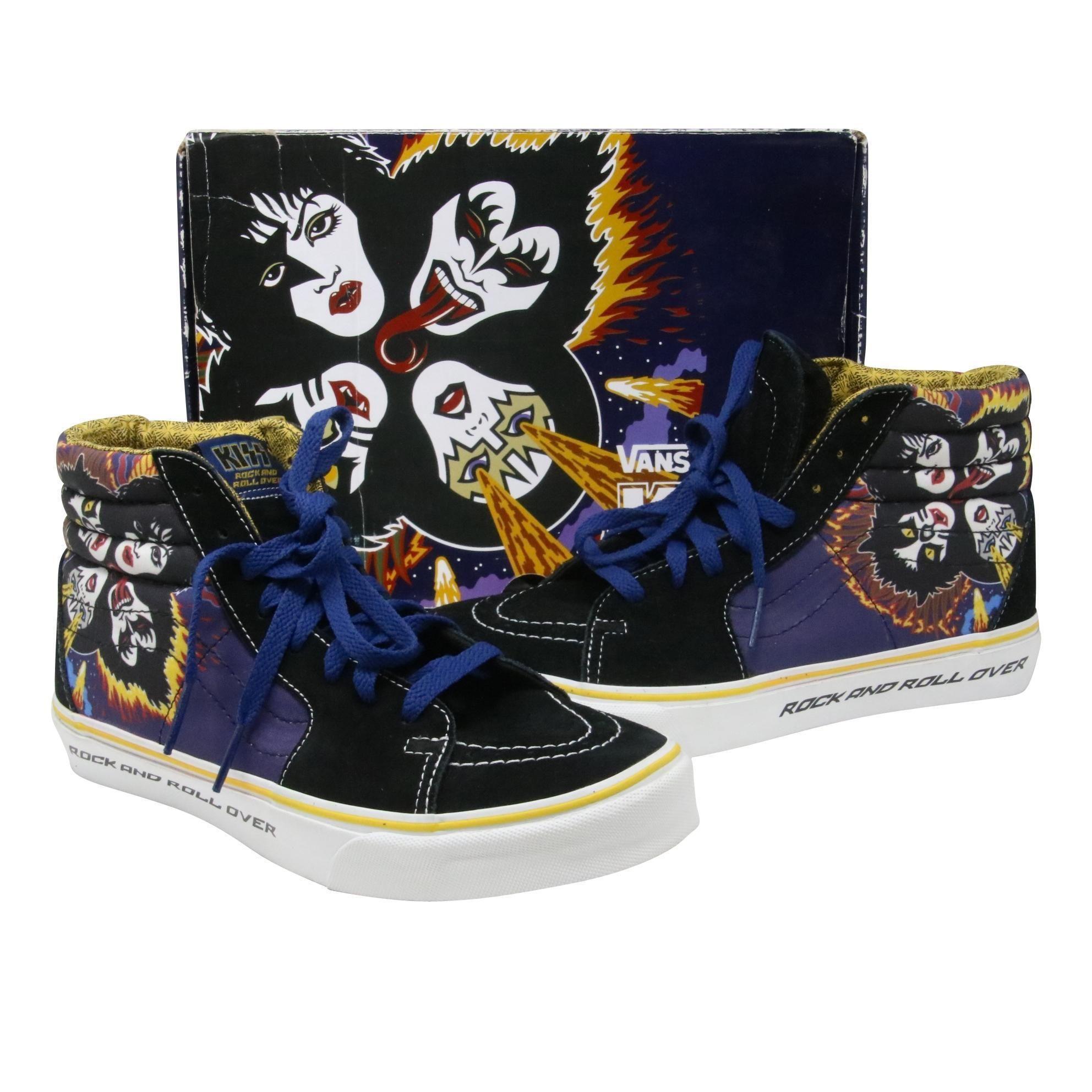 Vans Rock and Roll Over Sk8 HI (Hi Top Sneakers) – KISS