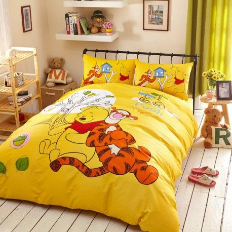 kinderbettw sche 3d bettw sche winnie the pooh tiger gelb bettset boy bedroom ideas. Black Bedroom Furniture Sets. Home Design Ideas