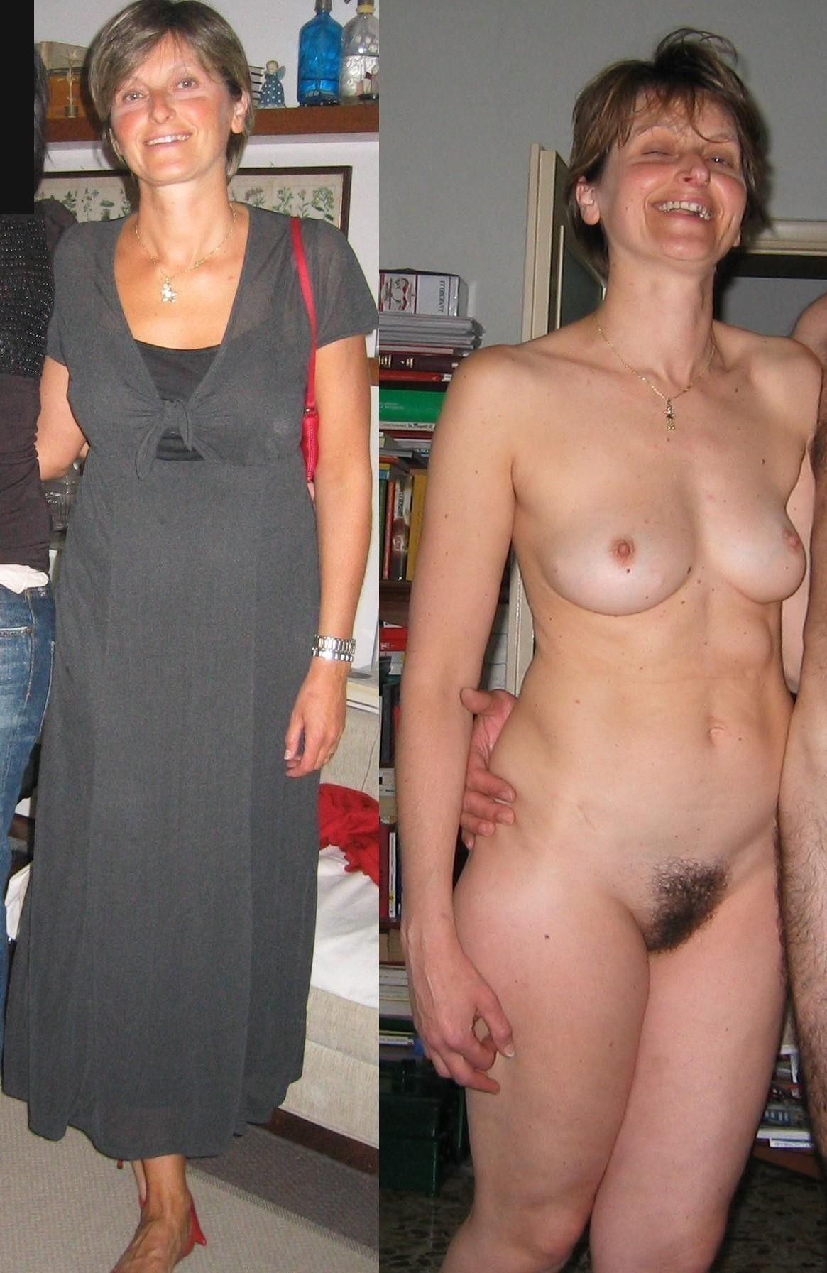 Undressing Hairy Nude