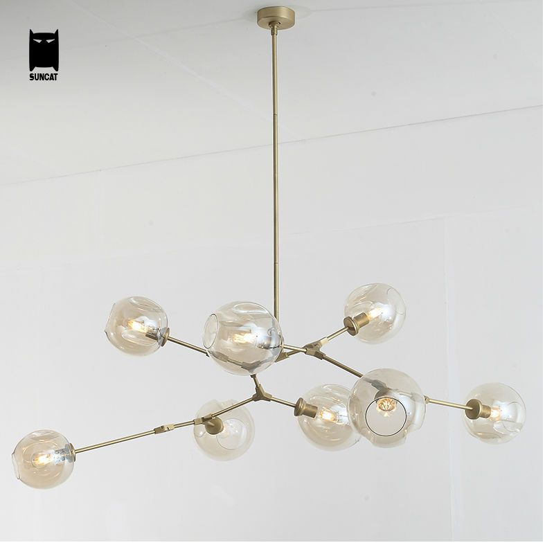 Lindsey Adelman Globe Branching Glass Bubble Chandelier Light