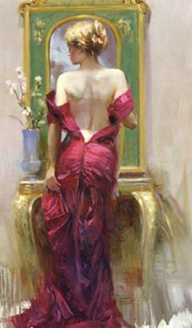 ELEGANT SEDUCTION  Hand Embellished by Pino  Giclee on Canvas  40 x 24