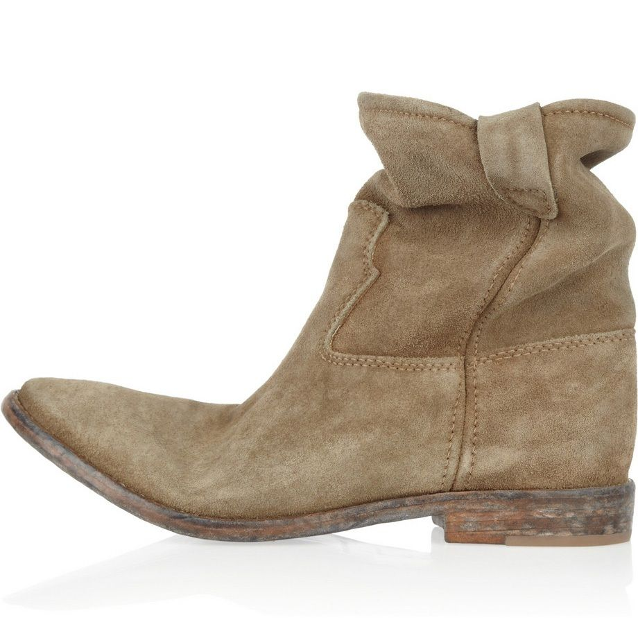 Cheap Isabel Marant Jenny Flat Camel Suede Ankle Boots Hot Sale ...