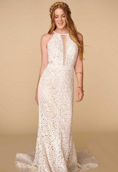 Halter Neckline Lace Sheath Wedding Dress Kleinfeld