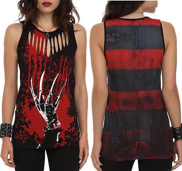 fe2f7fc53bd S M L New Nightmare on Elm Street Punk Goth Freddy Krueger Horror Movie  Tank Top