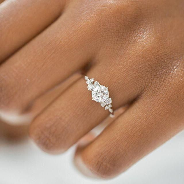 engagement ring square #engagementring Is your Tuesday covered in snow This one …, #beaut ….
