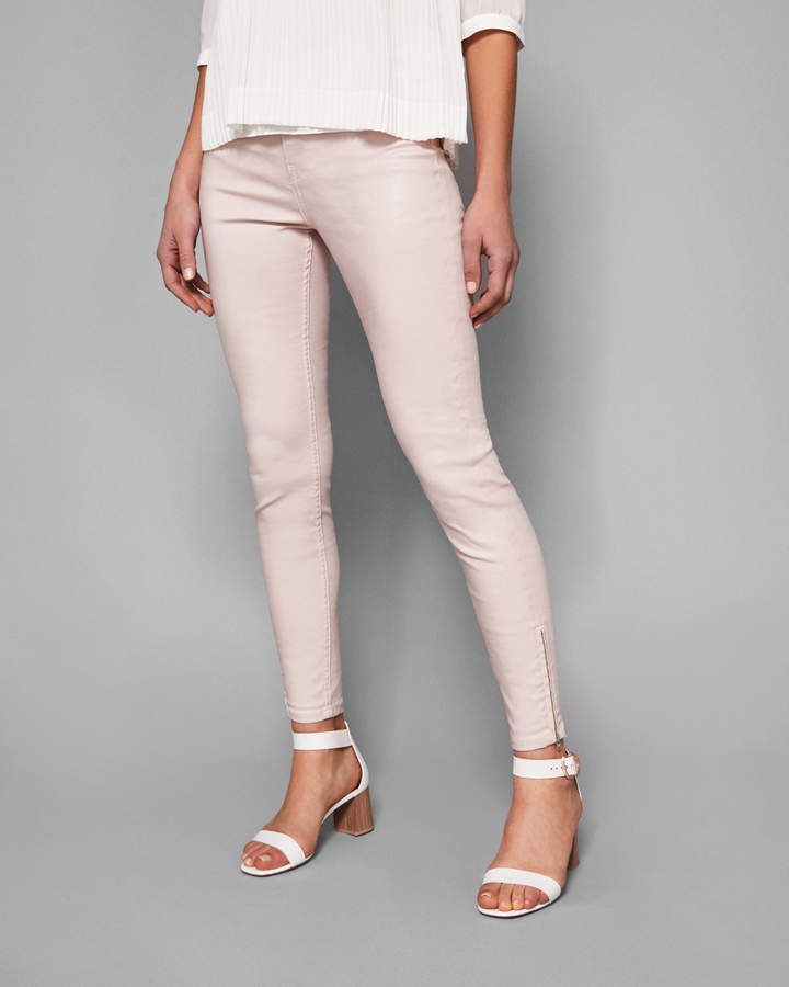 69f5c217475fc0 Coated skinny jeans - Ted Baker Baby Pink Jeans