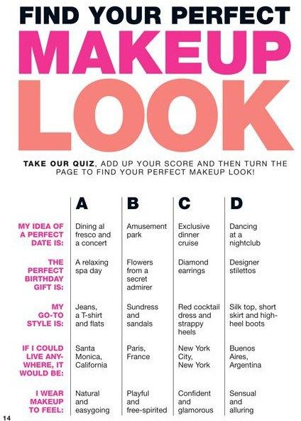 Match Makeup to Your Personality , Take the quiz!
