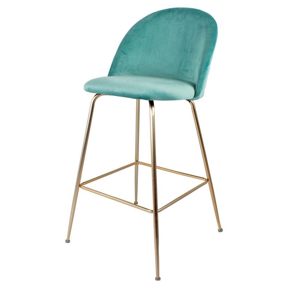 Vilma Turquoise Tabouret De Style Contemporain Structure En Acier Con Imagenes Taburete Taburete Alto Estilo Contemporaneo