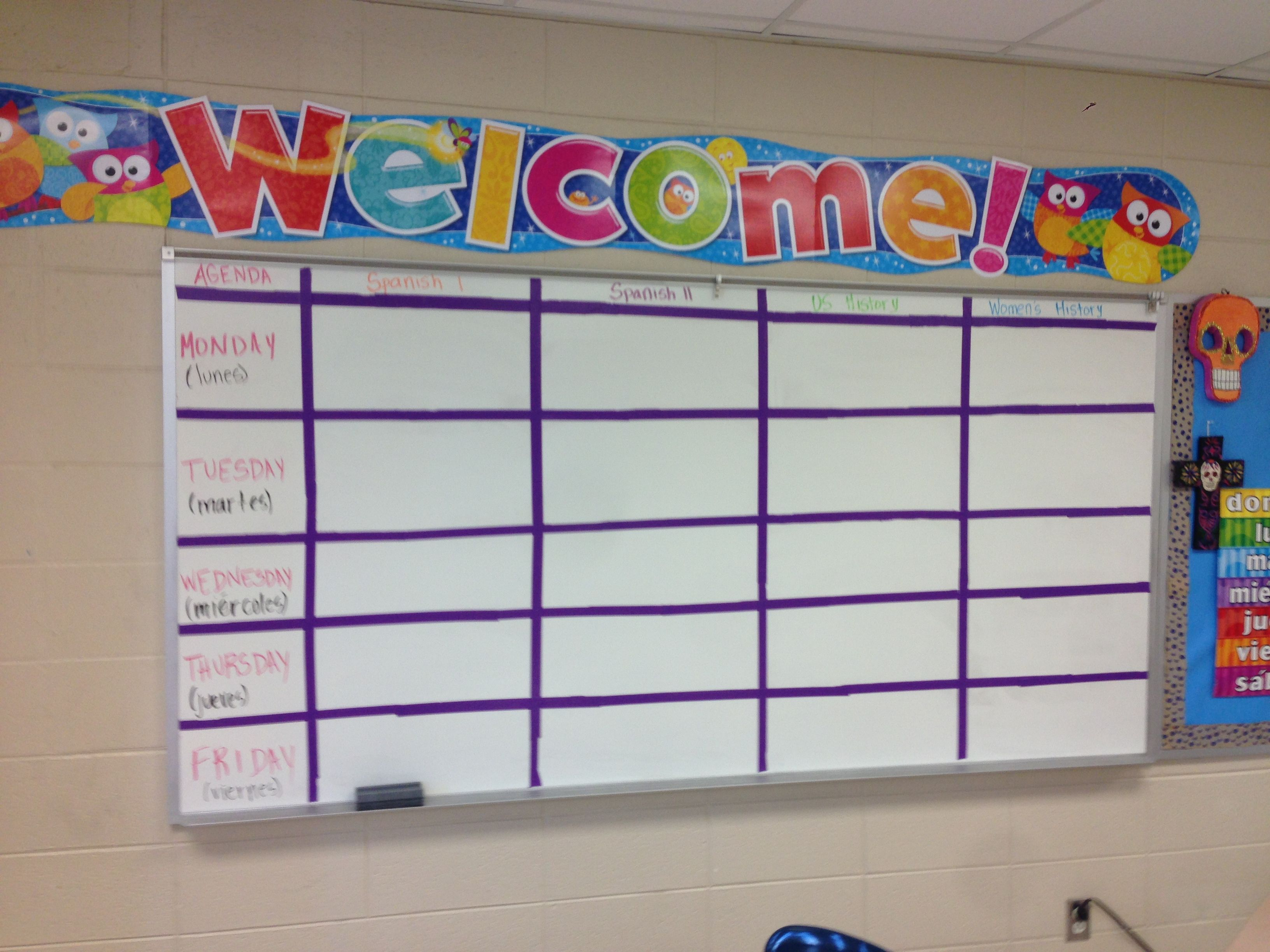 Agenda Board For Classroom Allows Students To See