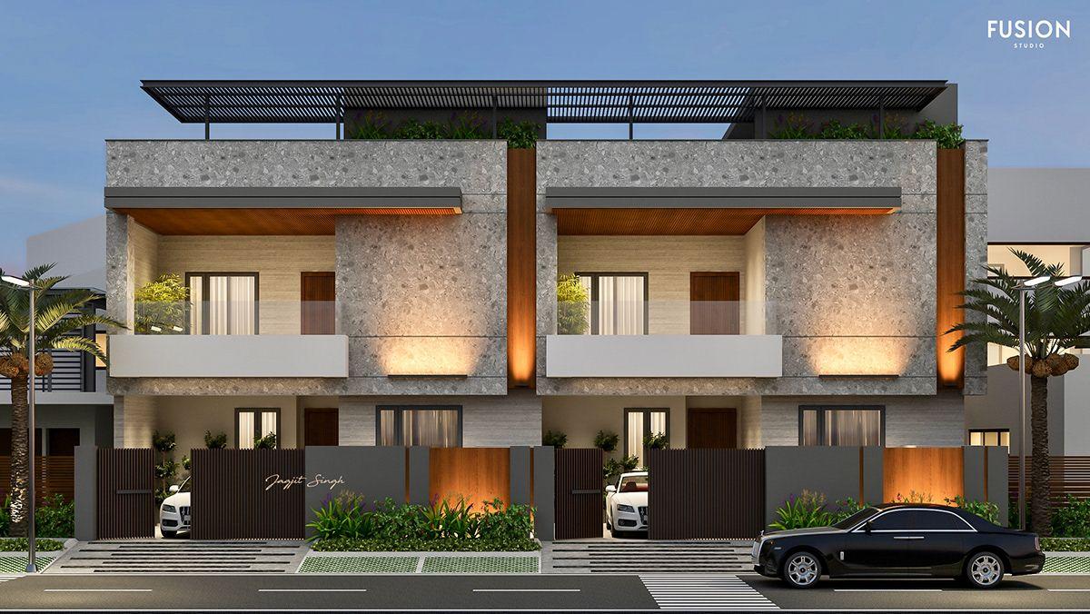 Fusion Studio 162 E 163 E Option 2 Row House Design House Architecture Styles Architect Design House