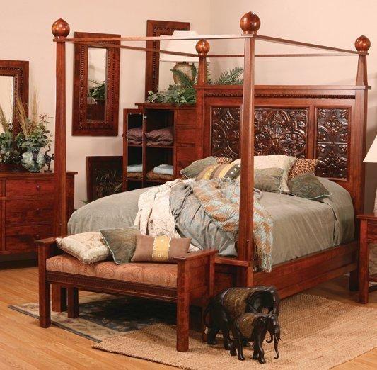 Amish Columbus Bed With Canopy, Amish Furniture Columbus Ohio