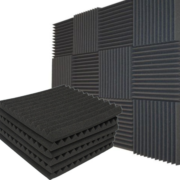 1 4 12 Packs Soundproofing Acoustic Studio Ktv Wedge Foam Tiles Wall Panels 12 X 12 Wish Sound Proofing Foam Tiles Foam Panels