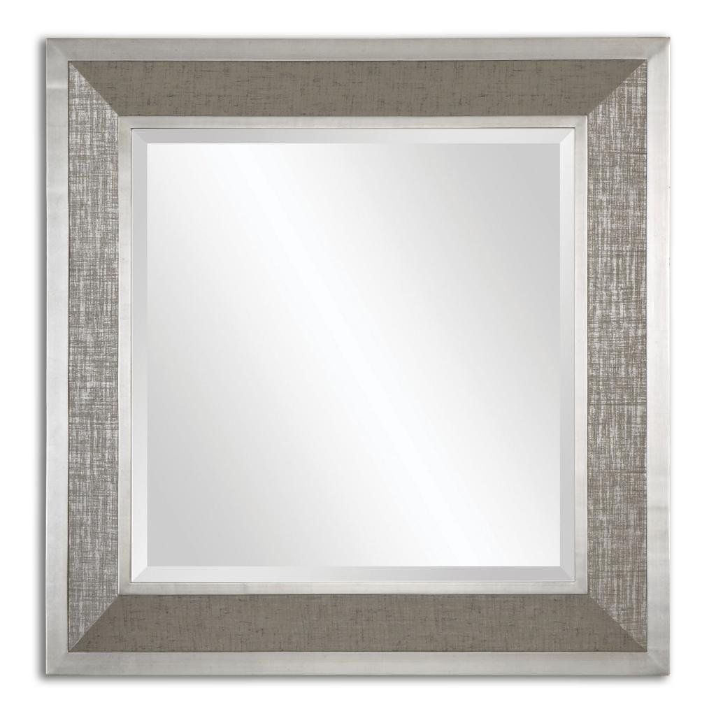 Luxe 42 Quot Contemporary Silver Square Wall Mirror Mirror Wall