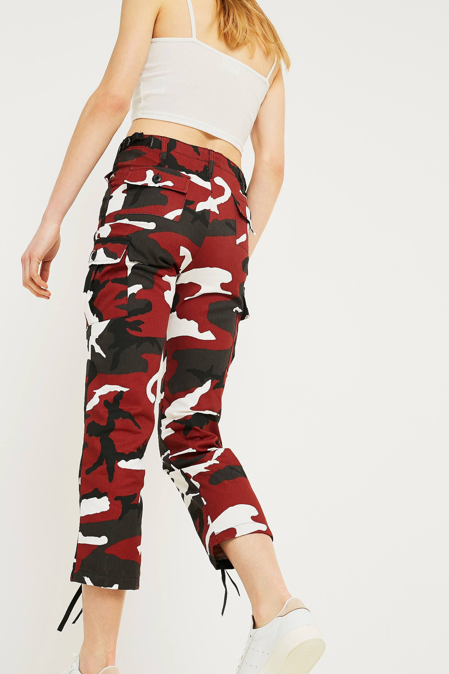 06c656be64a9c Urban Renewal Vintage Surplus Red Camo Trousers | jeans | Urban ...
