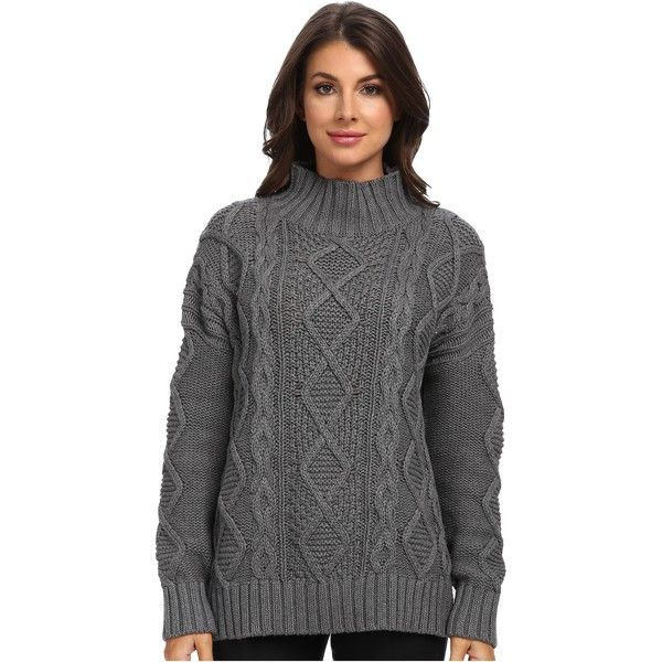 525 america Xo's Mock Neck (Dark Grey) Women's Sweater ($56 ...