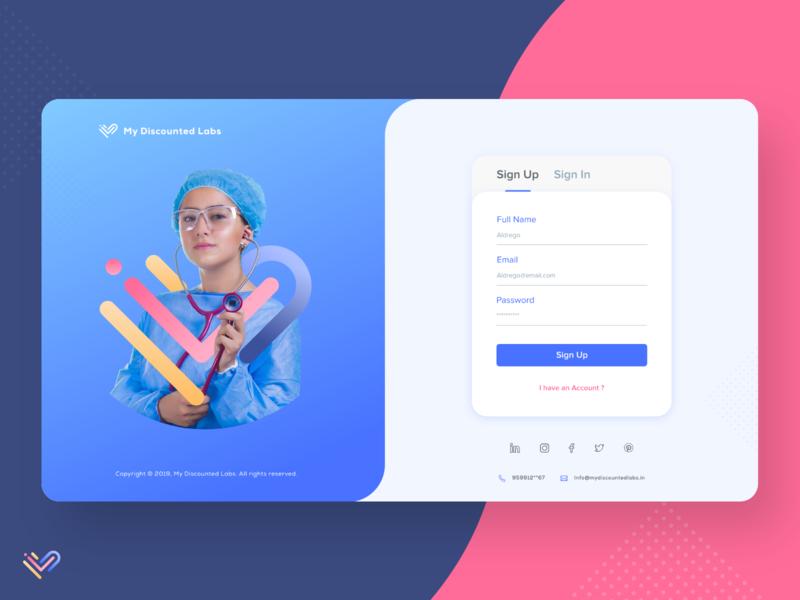 Healthcare Portal Sign Up Screen