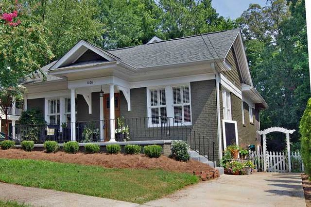 Exterior House Colors, Exterior Houses, Exterior Paint, Brick Exteriors,  House Exteriors, House Facades, Grey Houses, Old Houses, Painted Brick  Houses