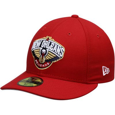 44cd8783c59 Men s New Orleans Pelicans New Era Red Low Profile 59FIFTY Fitted ...
