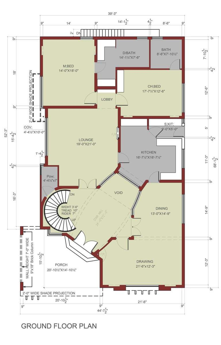 House Floor Plan 1 Kanal House Model House Plan Floor Plans House Floor Plans