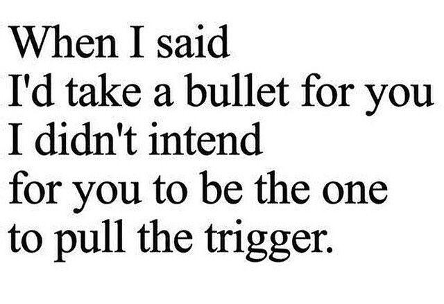 Right thru the heart!