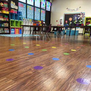 Circle Time Classroom Meeting Time Vinyl Floor Spots No
