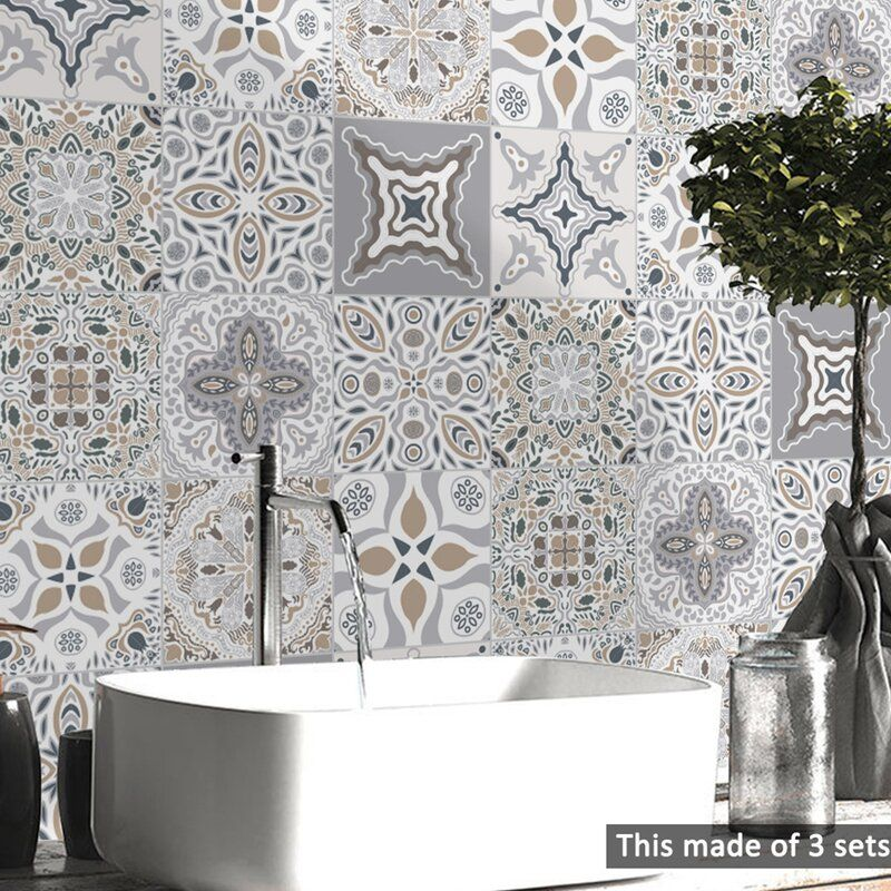 Buy Peel Stick Tiles Wayfair Co Uk Bathroom Wall Decor Decal Wall Art Wall Decor Stickers