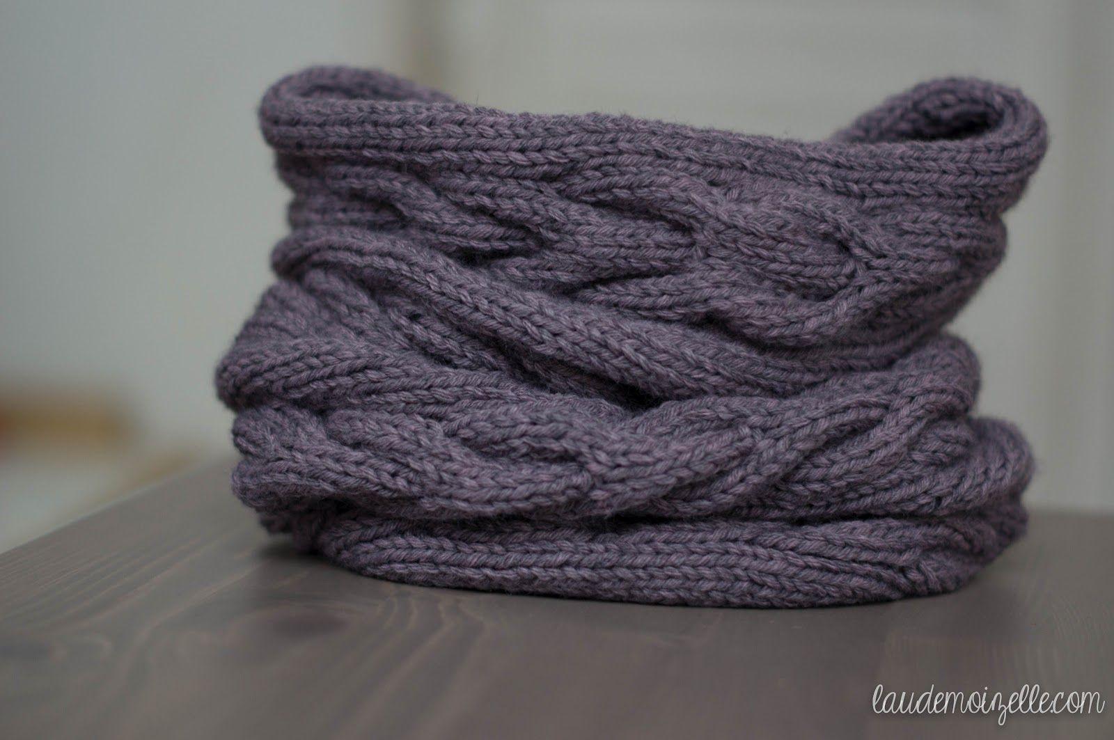 tricoter un snood aiguille 10