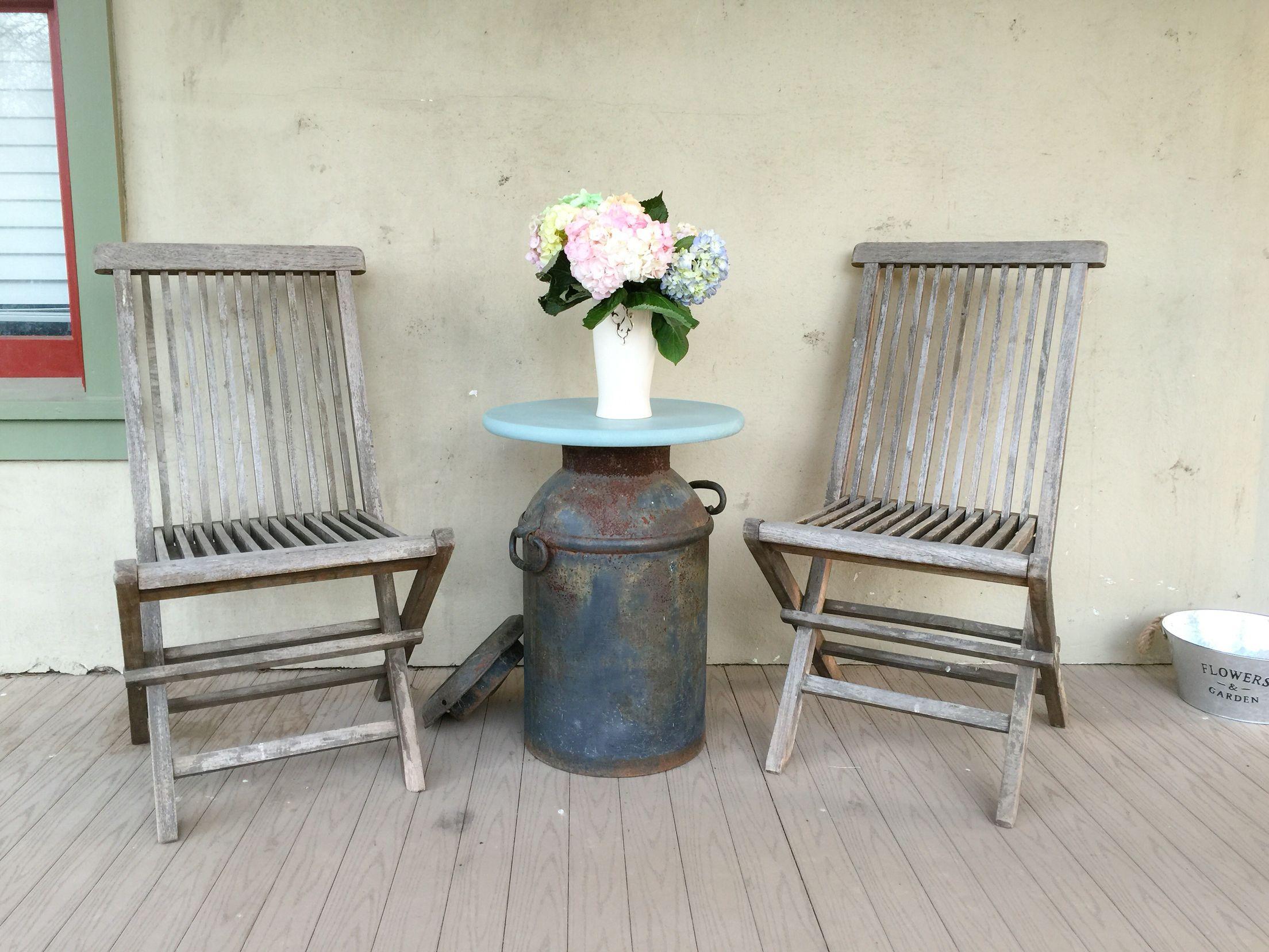 Farmhouse milk jug table. Sweet home, Decor, Home decor