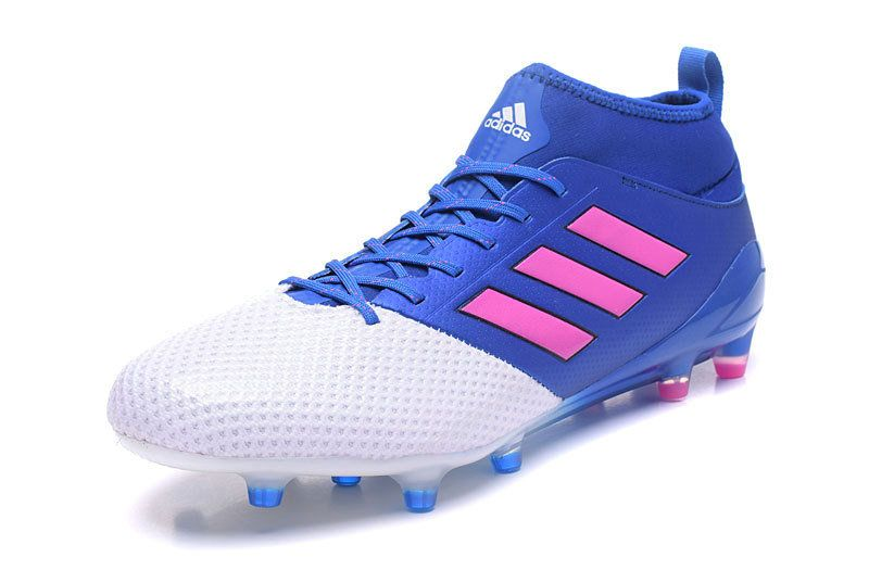 Adidas Ace 17 3 Fg Soccer Cleats Blue Pink White Soccer Cleats Cleats Adidas