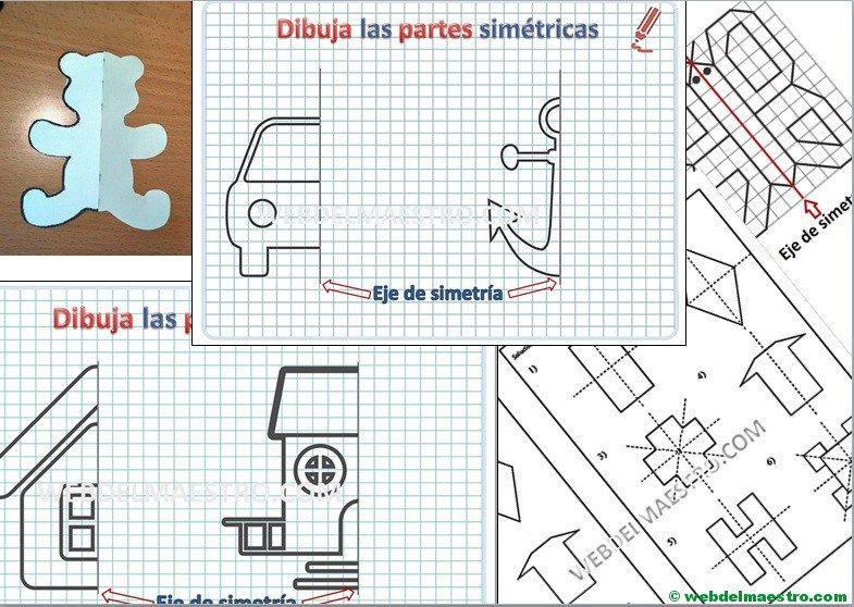 Eje De Simetria Concepto Y Actividades Web Del Maestro Simetria Material Didactico Primaria Web Del Maestro