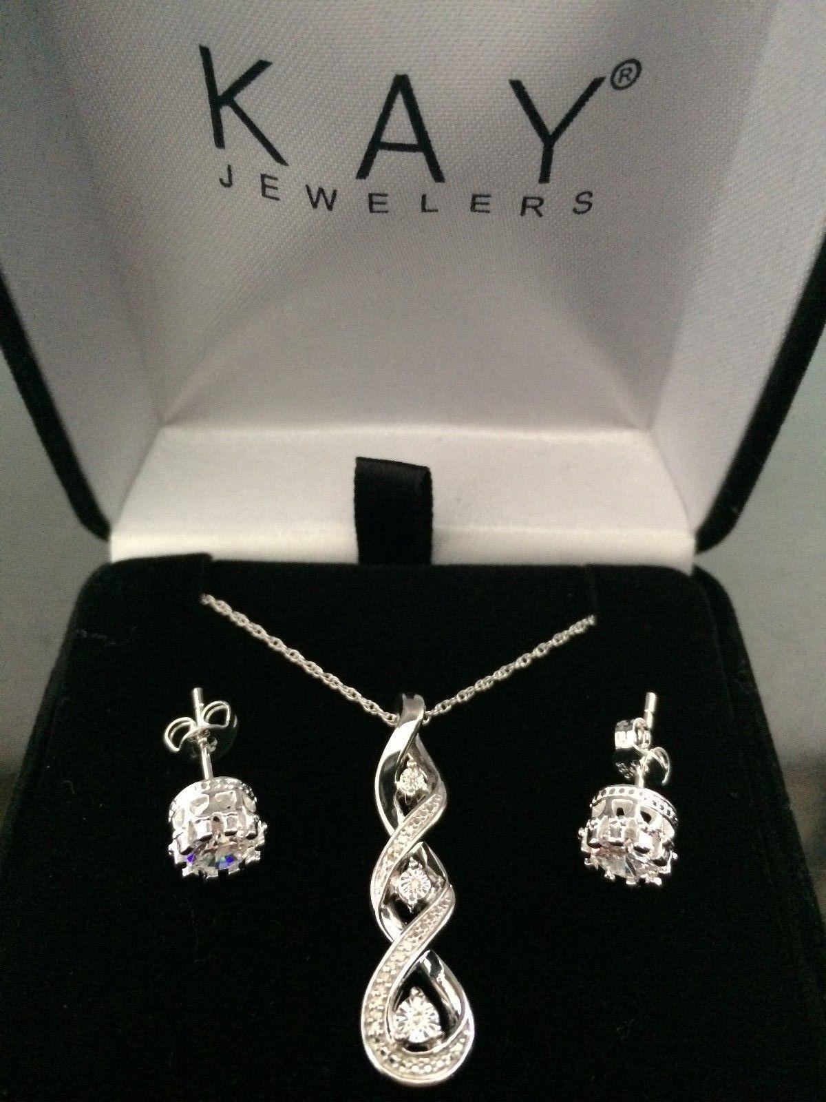 63177727d Fine Jewelry 4196: *New! Kay Jewelry Diamond Necklace + Earrings Jared  Zales Heart Anniversary Gift -> BUY IT NOW ONLY: $86.22 on #eBay #jewelry  #diamond ...
